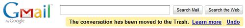 Gmail 撤消功能
