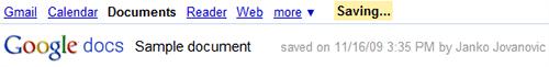 Google Doc 自動儲存
